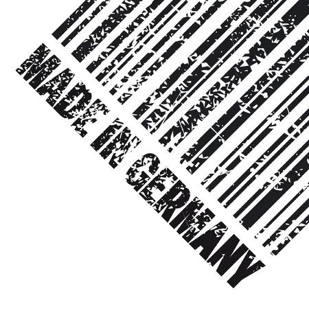 сделанный: Векторная иллюстрация одной изолированной сделано в Германии значок