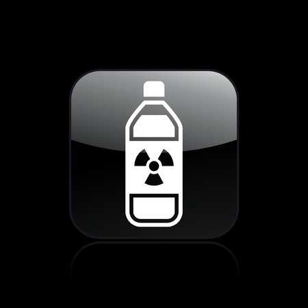 Vector illustration of single isolated radioactive bottle icon Stock Vector - 12128780