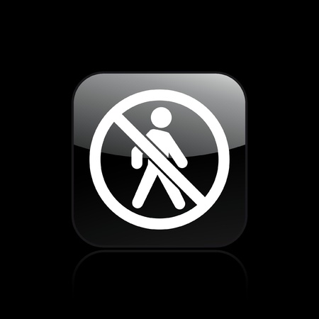 exclude: Vector illustration of single isolated access forbidden icon