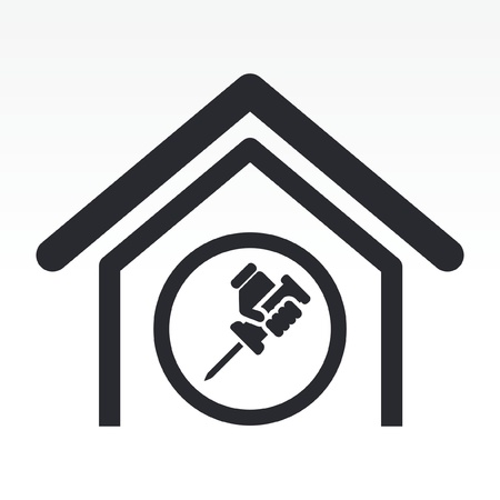 bricolage: Vector illustration of single isolated home repair icon