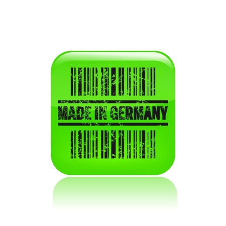 Vector illustration of single isolated Germany icon  Vector
