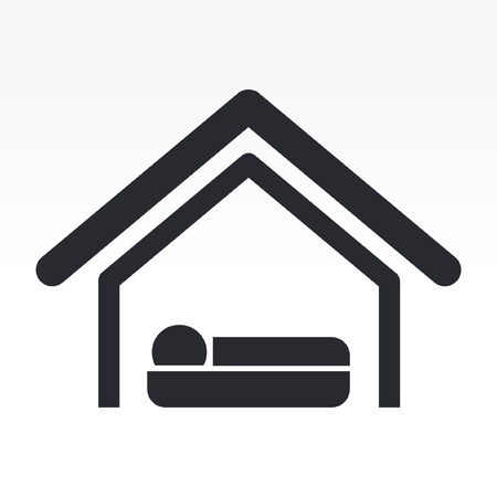 Vector illustration of single isolated hotel icon Stock Vector - 12127579