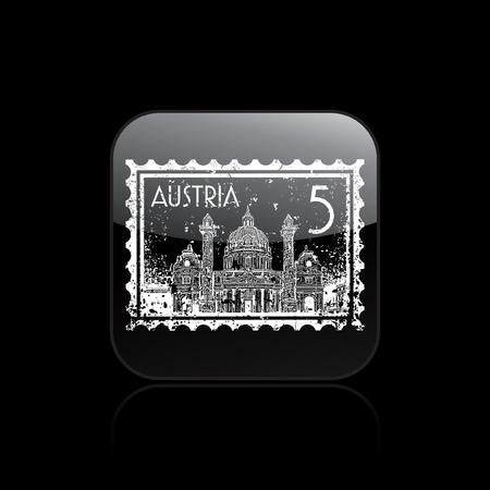 Vector illustration of single isolated Austria icon  Vector