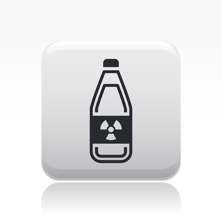 Vector illustration of single isolated radioactive bottle icon  Stock Vector - 12127819