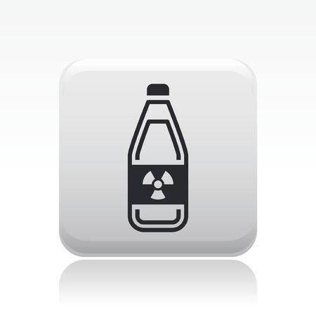 Vector illustration of single isolated radioactive bottle icon Stock Vector - 12127819
