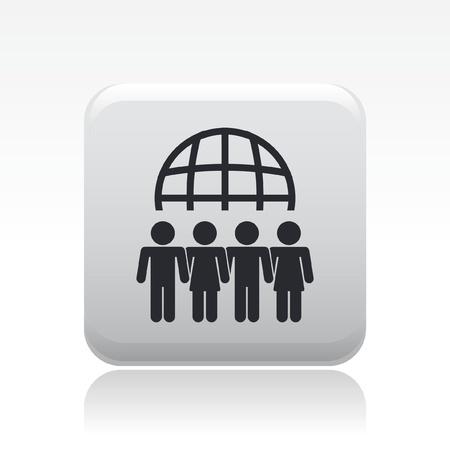 negocios internacionales: Ilustraci�n vectorial de icono de una sola reuni�n aislada Vectores