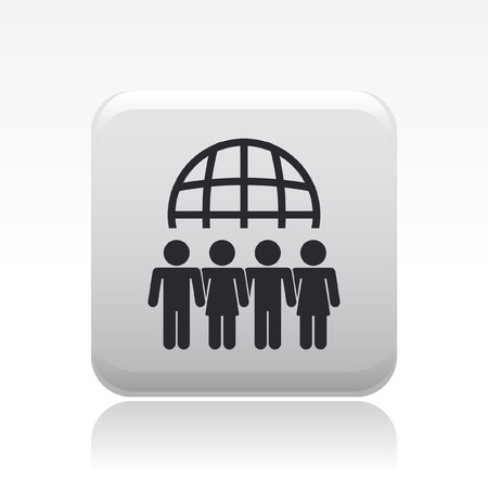 Vector illustration of single isolated meeting icon