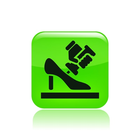 shoe repair: Vector illustration of single isolated shoe repair icon
