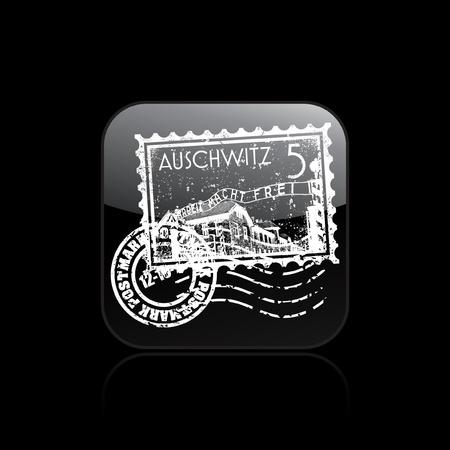 Vector illustration of single isolated Auschwitz icon  Stock Vector - 12130618