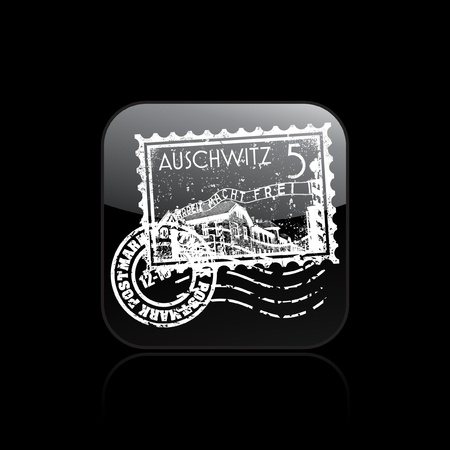 Vector illustration of single isolated Auschwitz icon  Vector