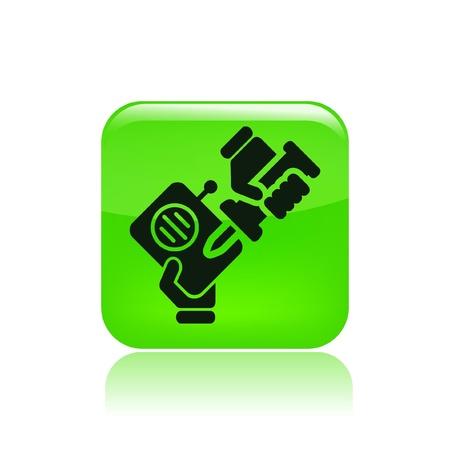 reparations: Ilustraci�n vectorial de un solo icono aislado de reparaci�n de radios