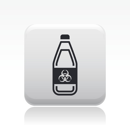 Vector illustration of single isolated danger bottle icon Stock Vector - 12127893