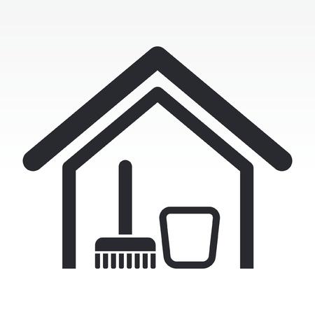 Vector illustration de la seule isolé propre icône de la maison