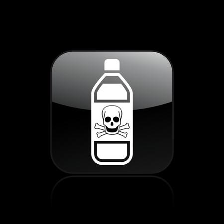 Vector illustration of single isolated dangerous bottle icon Stock Vector - 12129156