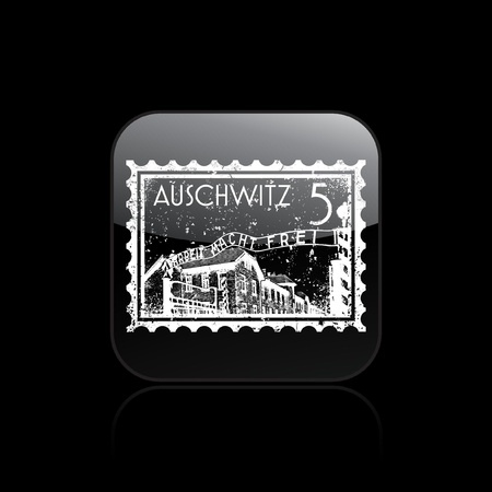 Vector illustration of single isolated auschwitz icon Stock Vector - 12130473