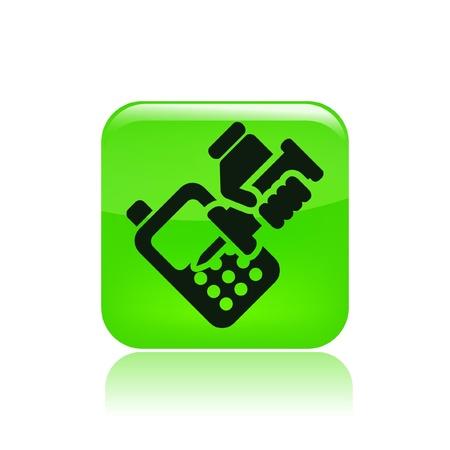 reparations: Ilustraci�n vectorial de un solo tel�fono aislado reparador icono