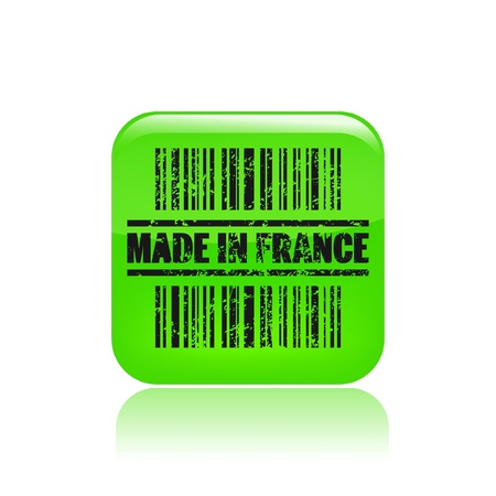 Vector illustration of single isolated France stamp icon Vector