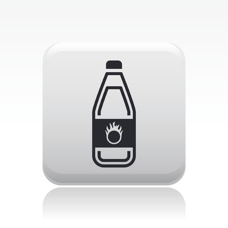 Vector illustration of single isolated dangerous bottle icon Stock Vector - 12127853