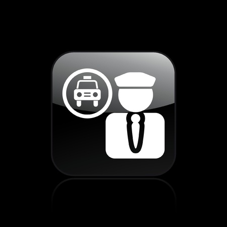 chauffeur: Vector illustration of single isolated driver icon
