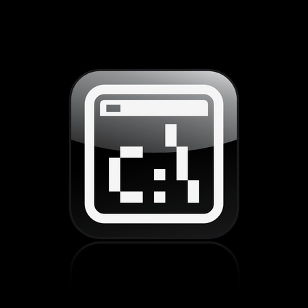 dos: Vector illustration of single isolated pixel icon Illustration