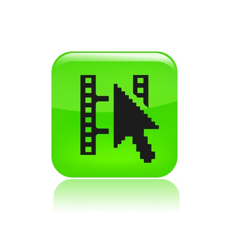 clik: Vector illustration of single isolated film streaming icon Illustration