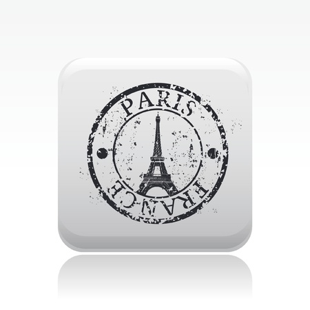 Vector illustration of single isolated Paris icon Stock Vector - 12129642