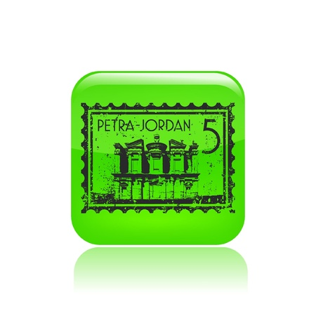 petra: Vector illustration of single isolated Petra icon