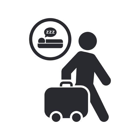 breackfast: Vector illustration of single isolated hotel icon Illustration