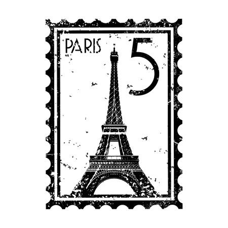 francia: Ilustraci�n vectorial de un solo icono aislado de Par�s