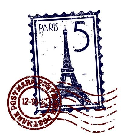 estampa: Ilustraci�n vectorial de un solo icono aislado de Par�s