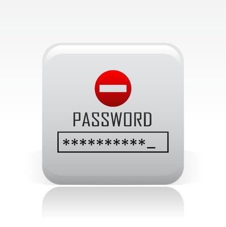 password: Ilustración vectorial de icono de una sola contraseña aislado