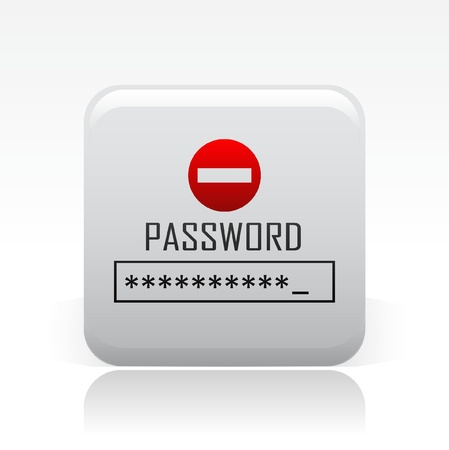 secret word: Vector illustration of single isolated password icon