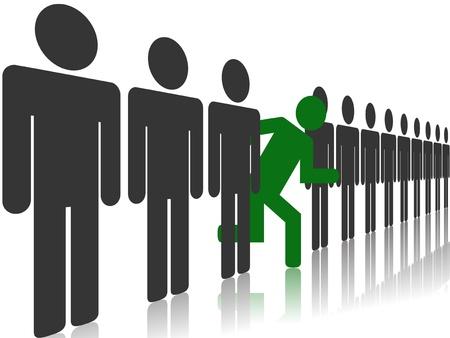 Vektor illustration av olika människor koncept