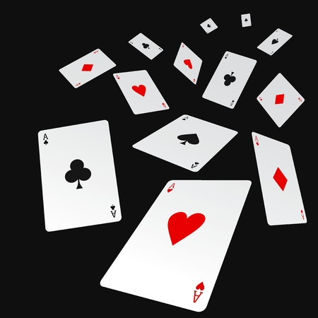 Vector illustration of poker concept design Illustration