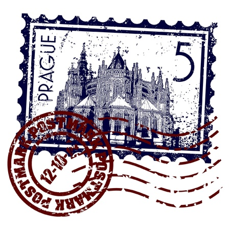 Vektor illustration av enstaka isolerade Prag ikonen