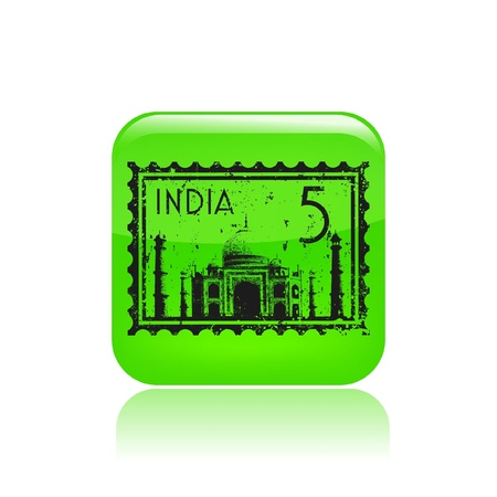 agra: Vector illustration of single isolated India icon Illustration