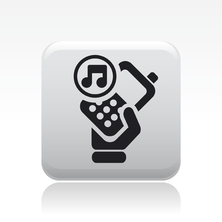 Vector illustration of single isolated phone sound icon
