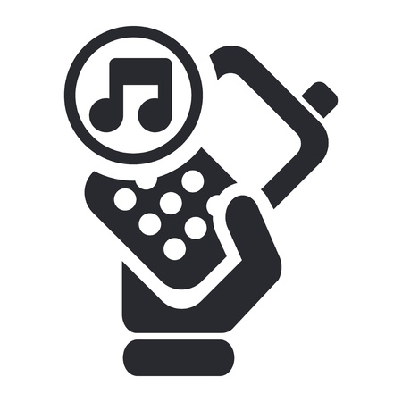 Vector illustration of single isolated phone icon Stock Vector - 12124556