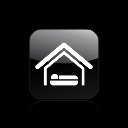 snooze: Vector illustration of single isolated hotel icon Illustration