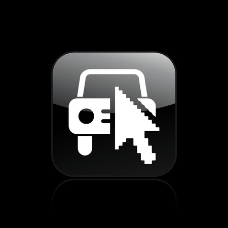 configure: Vector illustration of single isolated web car icon