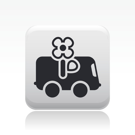 Vector illustration of single isolated delivery flower icon Ilustração