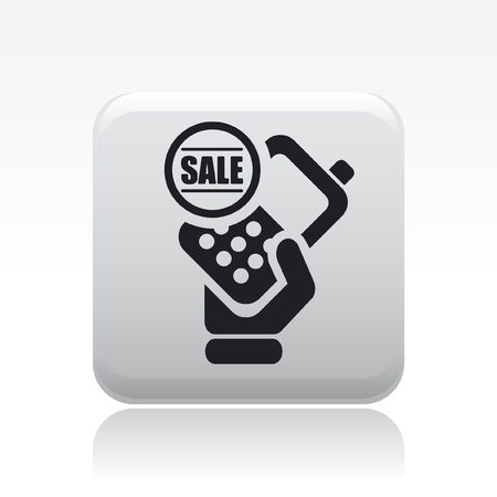 cellulare: Vector illustration of single isolated phone sale icon Illustration