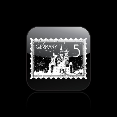 Vector illustration of single isolated Germany icon Stock Vector - 12130188