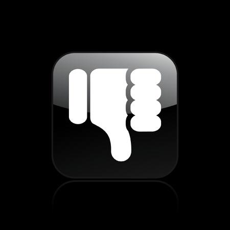 negar: Ilustraci�n vectorial de un solo icono aislado ko Vectores