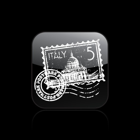 Vector illustration of single isolated Italy icon Illustration