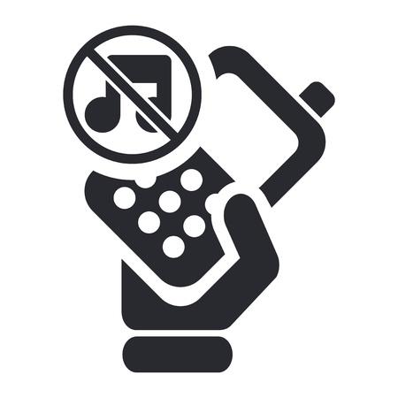 Illustrazione vettoriale di sola icona isolato telefono muto