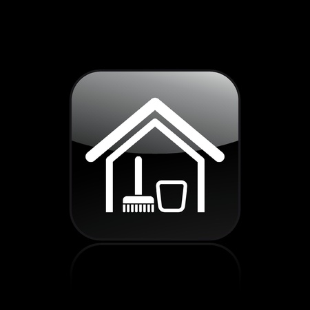 Vector illustration of single isolated clean house icon Vector