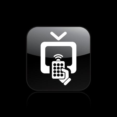 tv remote: Векторные иллюстрации из одной изолированной пульт от телевизора значок