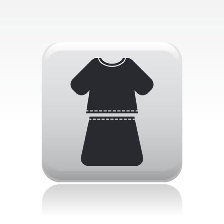miniskirt: Vector illustration of single isolated woman dress icon Illustration