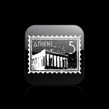 Vector illustration of single isolated athens icon Illustration